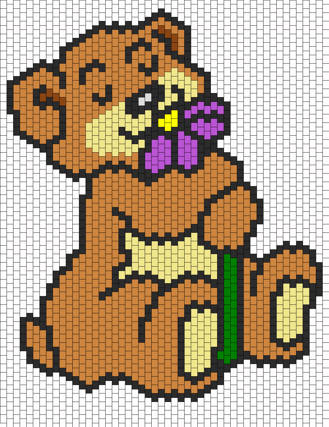 Teddy Bear Smelling A Flower