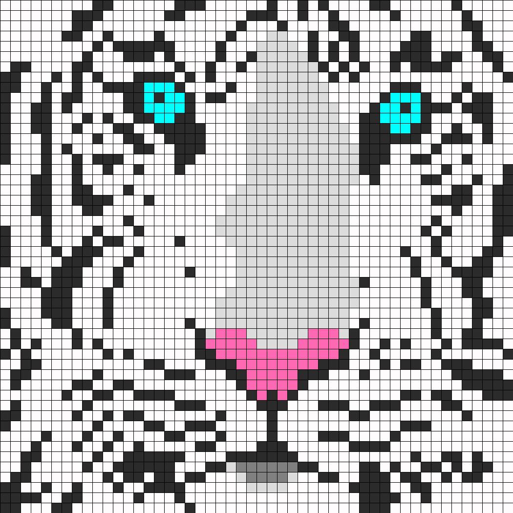 White Tiger Perler
