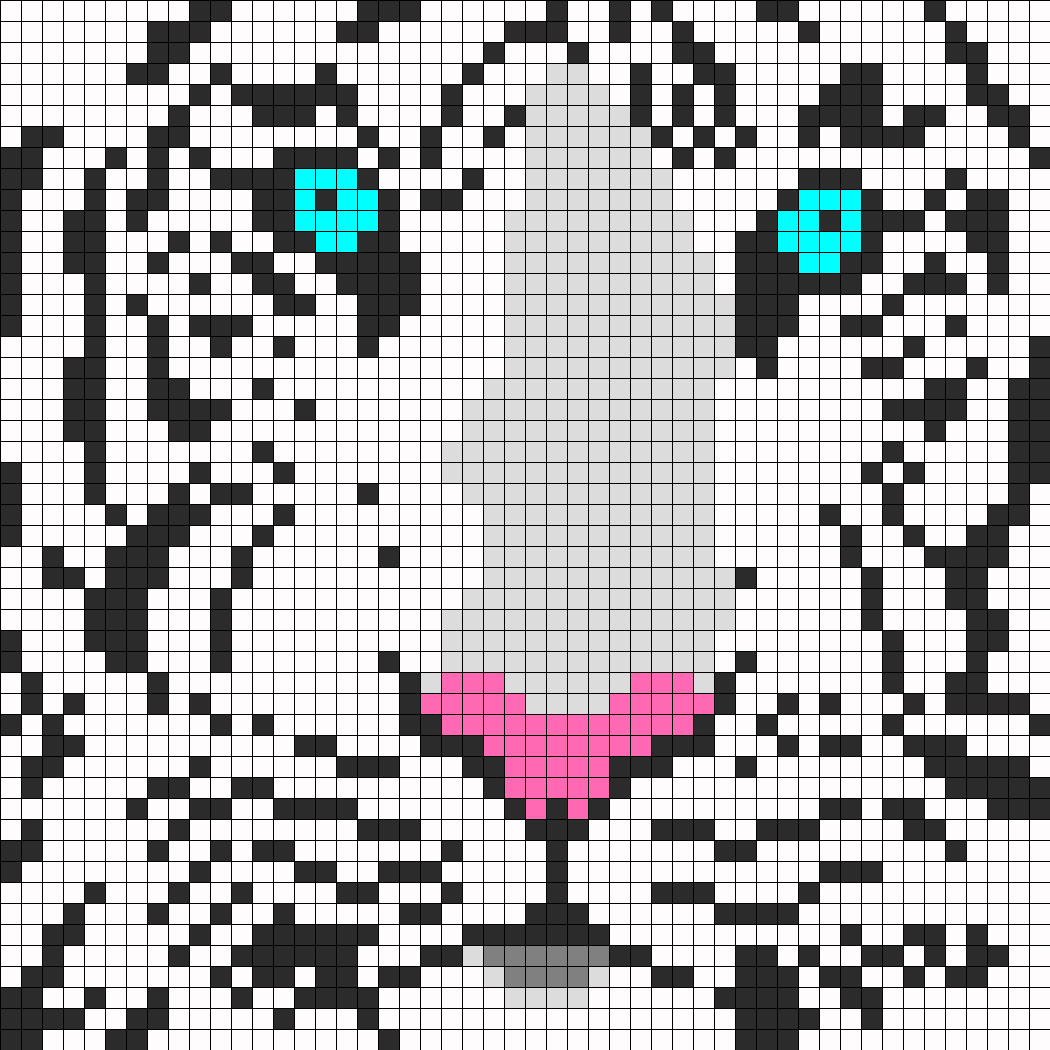 Pixel Art Tigre Pixel Art Quercetti in November 2017 VMinfo : 14113WhiteTigerPerler from vacances-mediterranee.info size 1050 x 1050 png 25kB