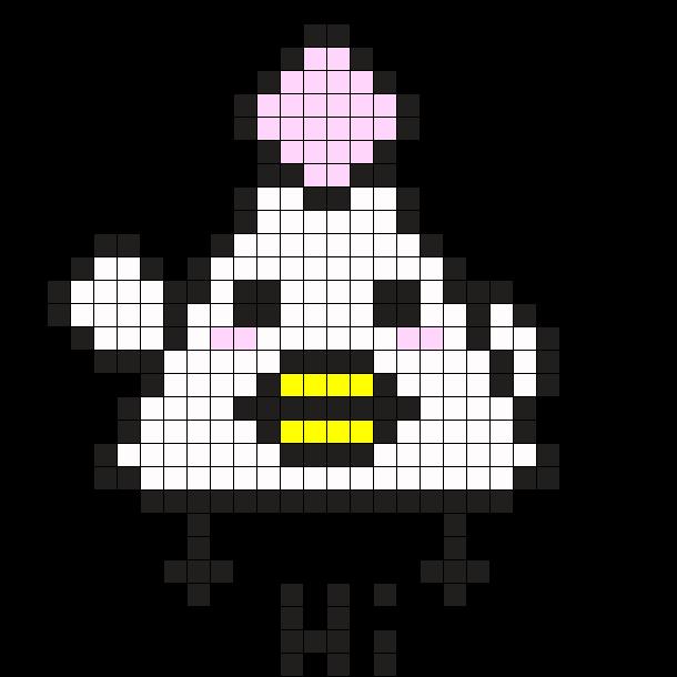 Kawaii Chick Perler Bead Pattern / Bead Sprite