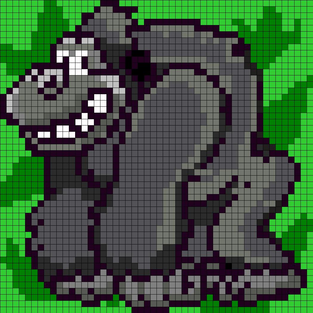 Gorilla Perler Bead Pattern / Bead Sprite