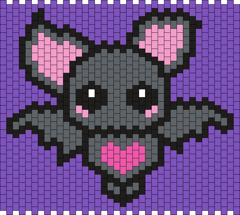 Cute Little Bat (Multi) Bead Pattern