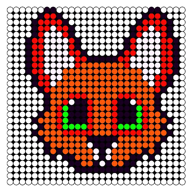 Fox Perler Bead Pattern / Bead Sprite