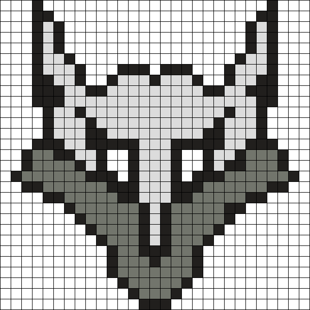 Wolf Perler Bead Pattern / Bead Sprite
