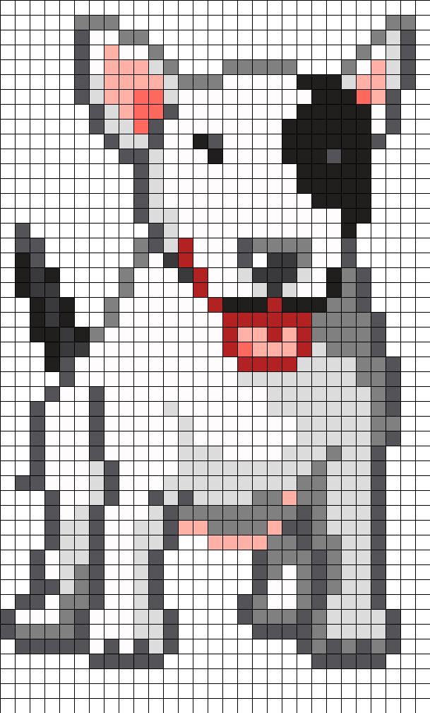 English Bullterrier Perler Bead Pattern / Bead Sprite