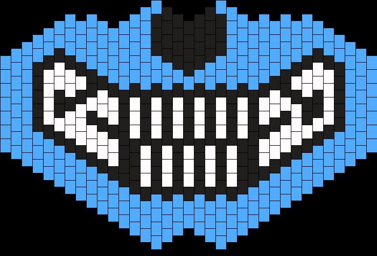 Large Blue Wolf Kandi Mask Bead Pattern