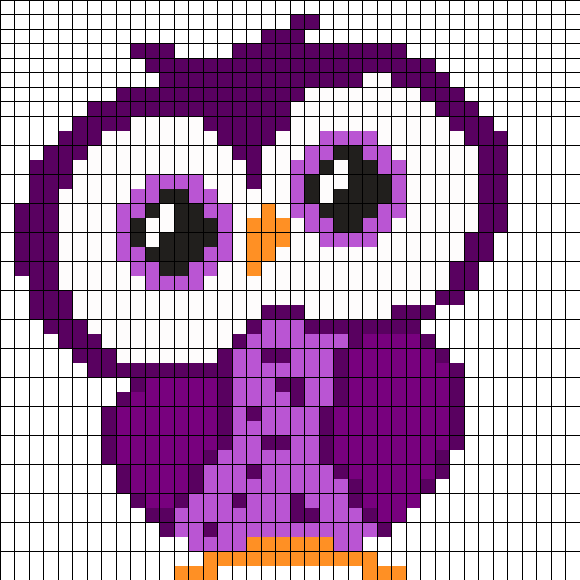 Purple Small Owl