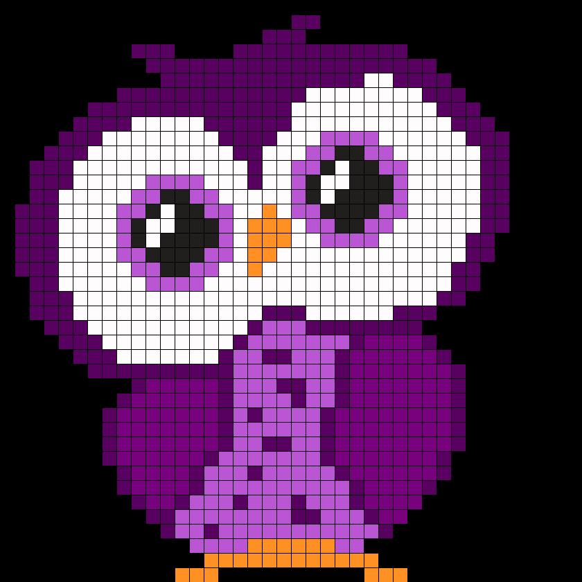 Purple Small Owl