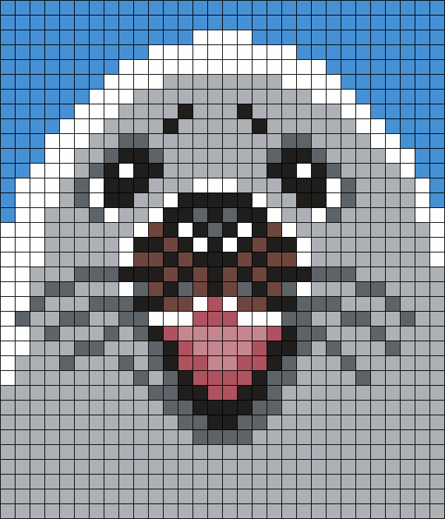 White Seal (Sq) Perler Bead Pattern / Bead Sprite