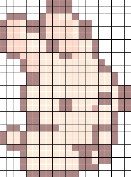 Bunny Perler Bead Pattern / Bead Sprite