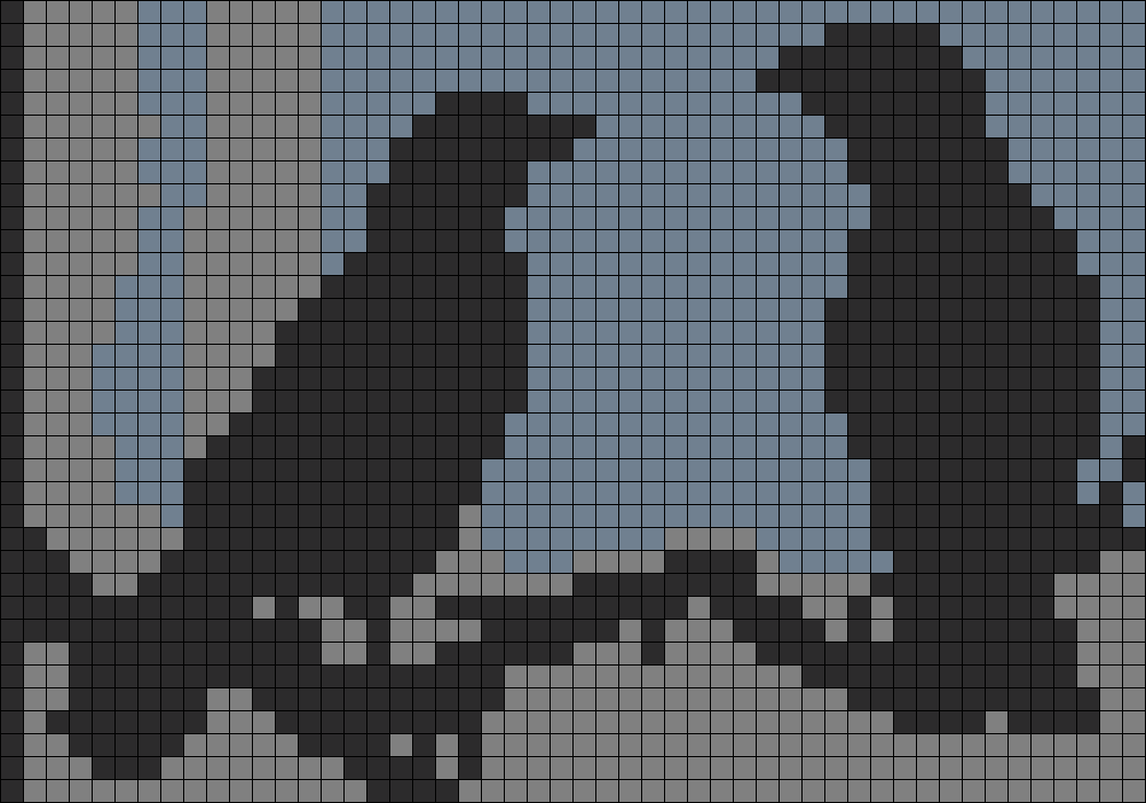 2 Crows Perler Bead Pattern / Bead Sprite