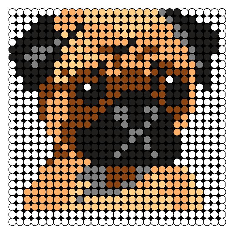 Pug Perler Bead Pattern / Bead Sprite