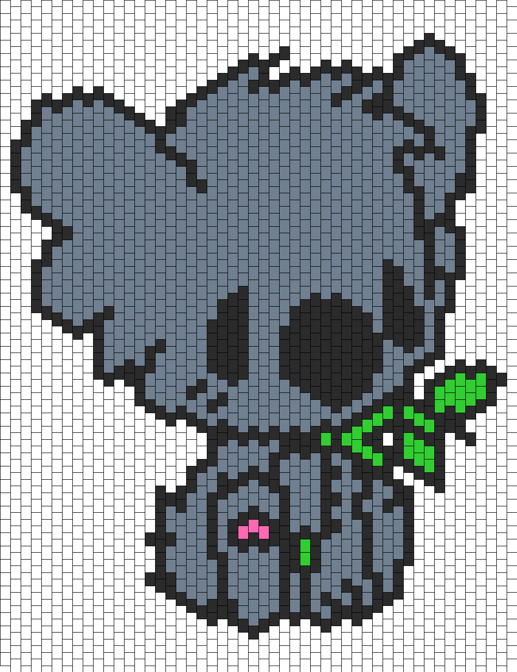 Cute Koala Eating Bead Pattern