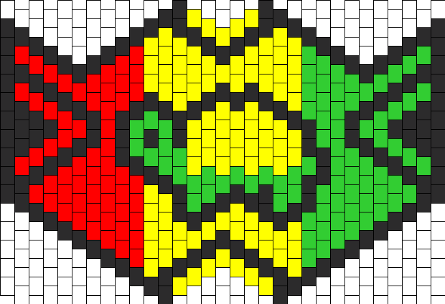 Ninja Turtle Kandi Mask Pattern AGCReWall Custom Kandi Mask Patterns
