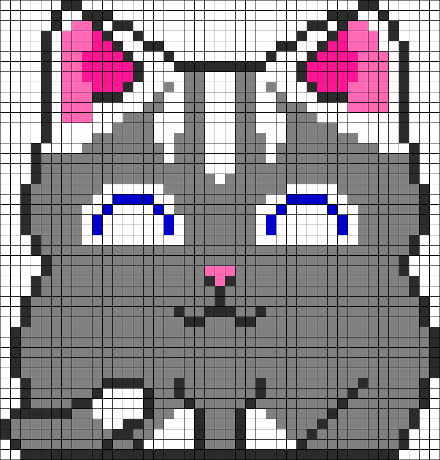 Kitty Perler Bead Pattern / Bead Sprite