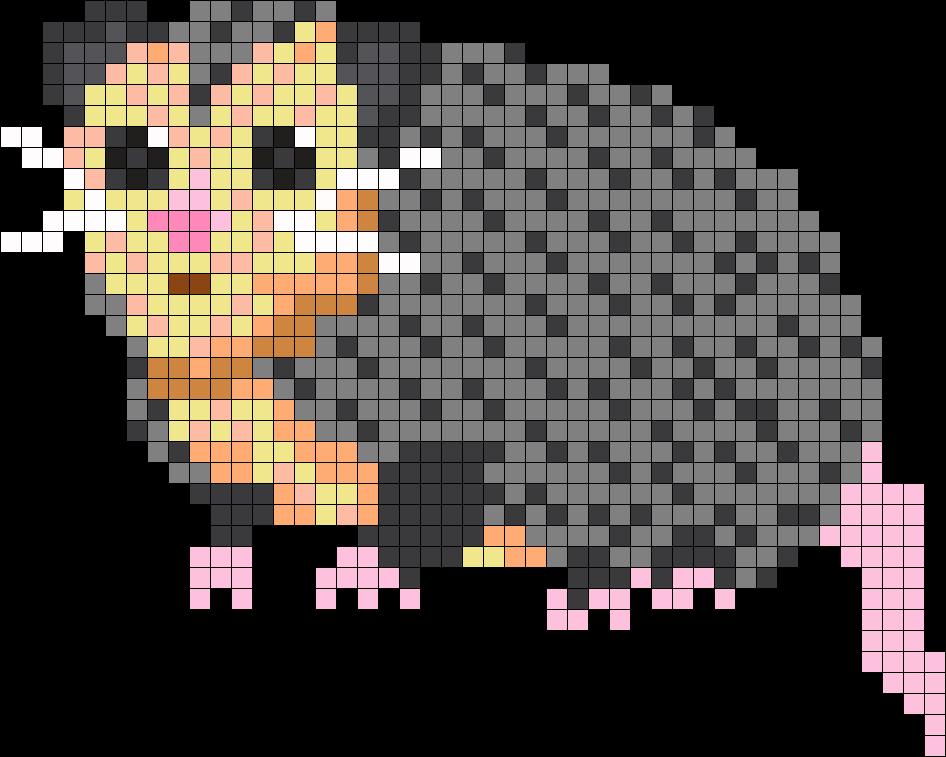 Is This A Possum Perler Bead Pattern / Bead Sprite