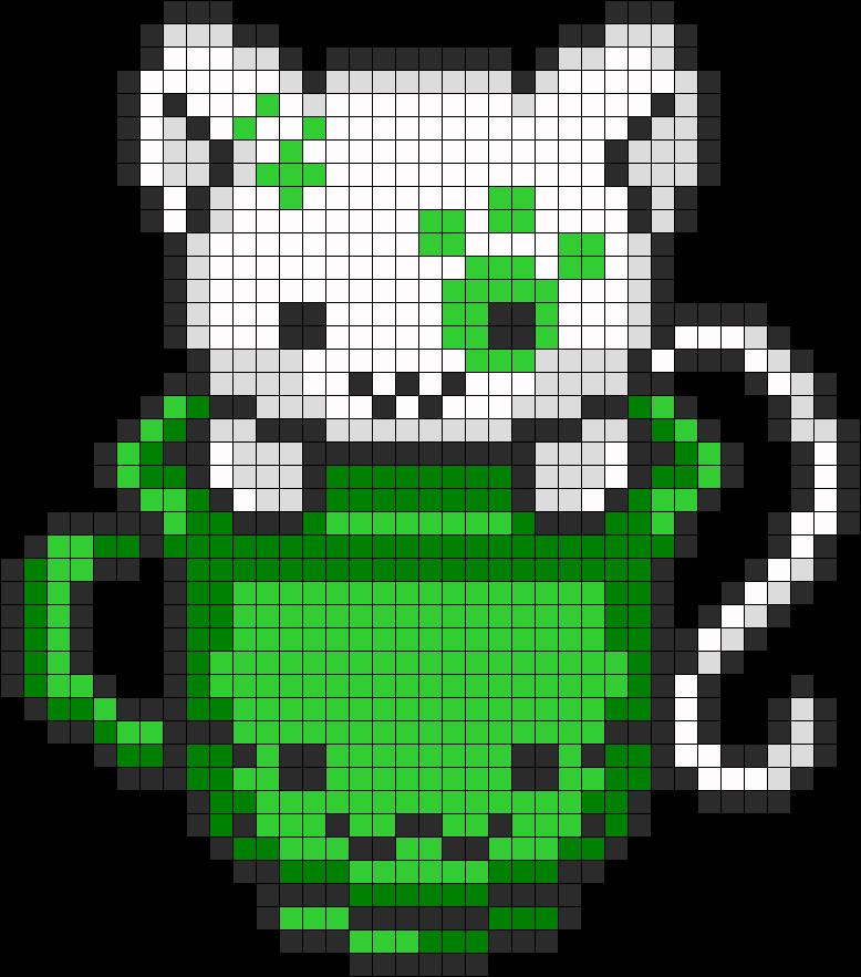 Green Teacup Kitty