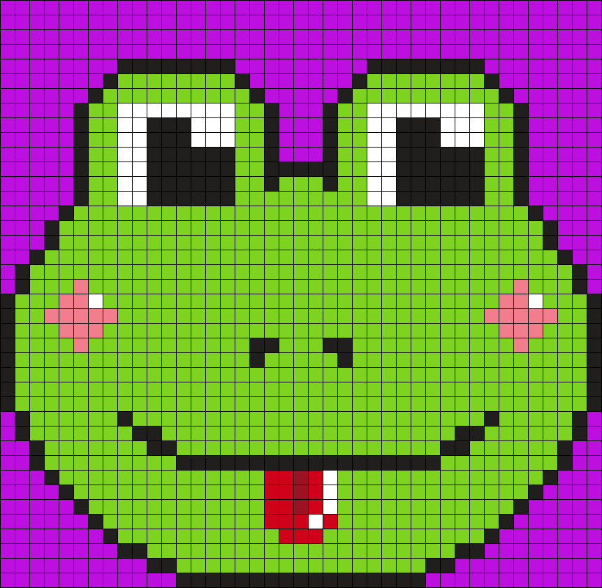 Frog Perler Bead Pattern / Bead Sprite