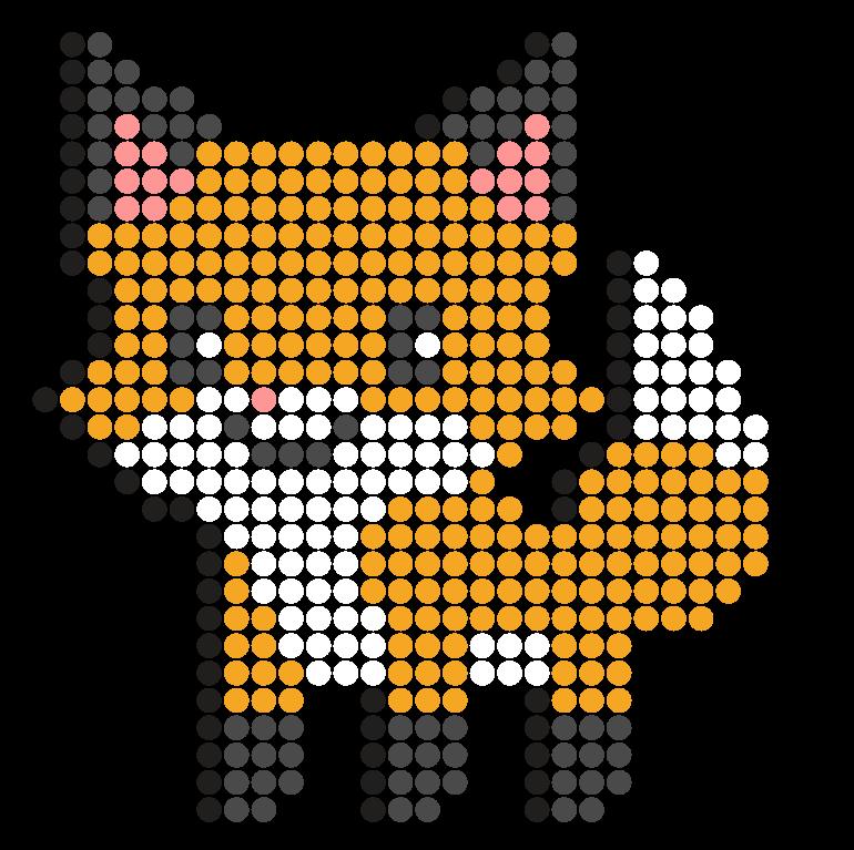 Chibi Fox Perler