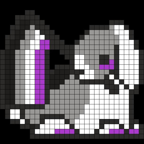 Asexual Pride Rabbit Perler Sprite