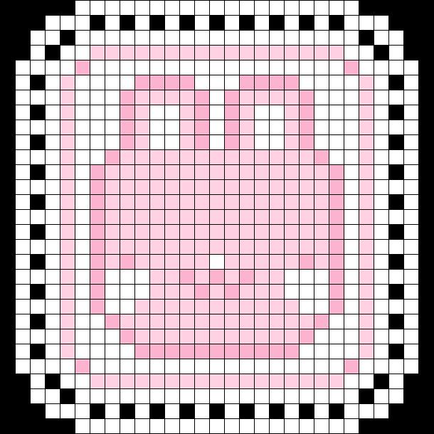 Pink Bunny Doily/coaster