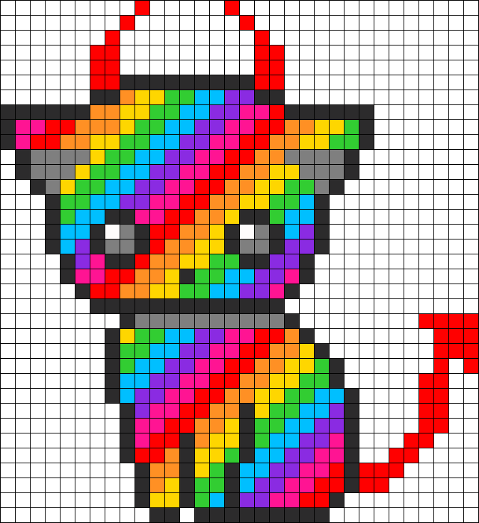 Rainbow Devil Kitty