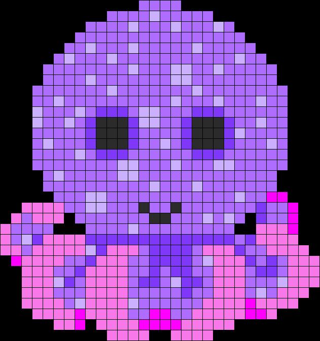 Legs Beanie Boo Octopus Perler Bead Pattern / Bead Sprite
