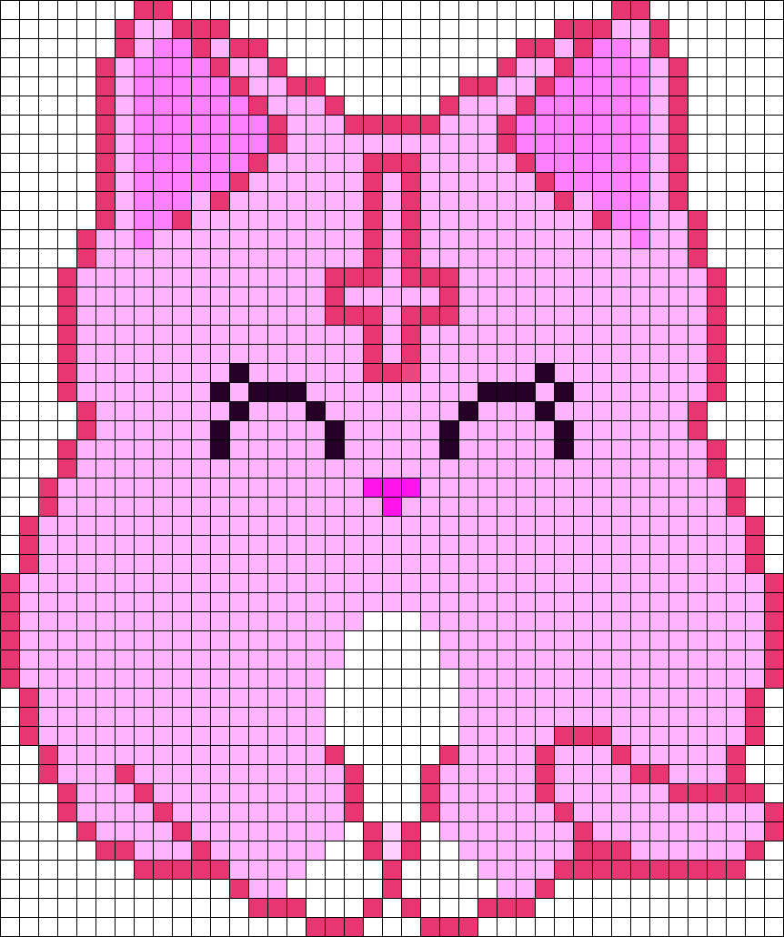 CUTE CAT Perler Bead Pattern / Bead Sprite