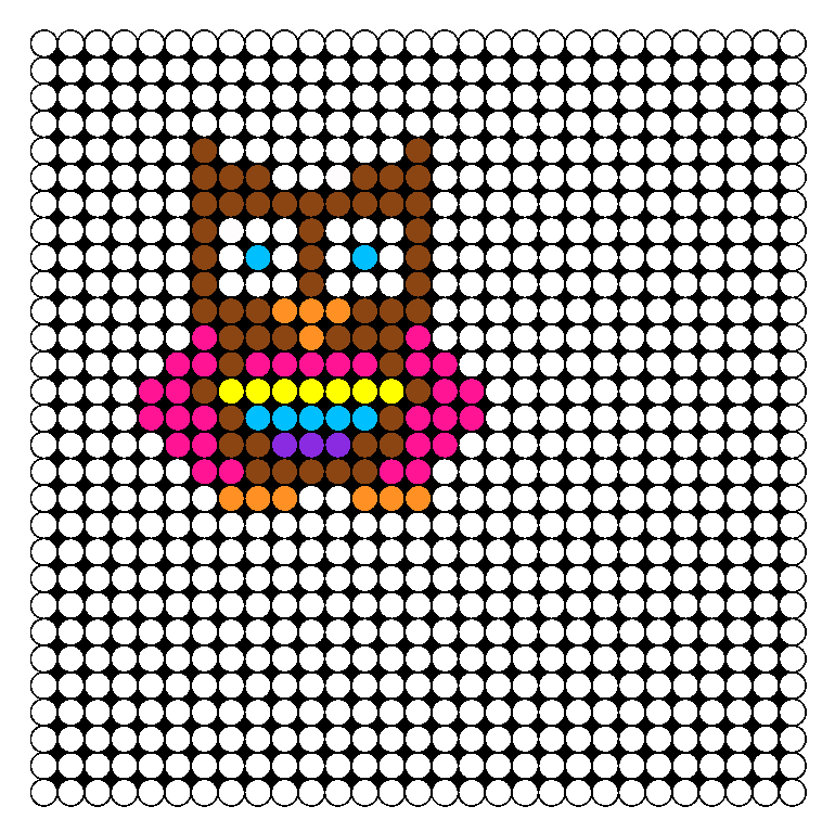 Owl Perler Bead Pattern / Bead Sprite