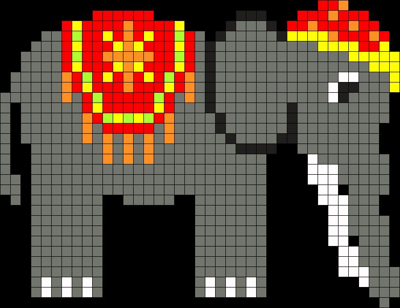 Perler Elephant