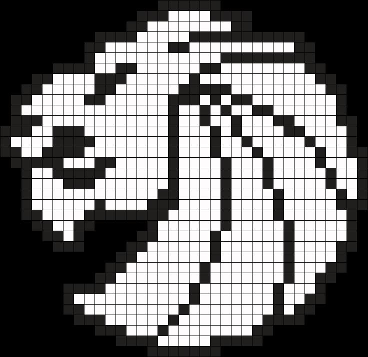 Seven Lions Perler Bead Pattern / Bead Sprite