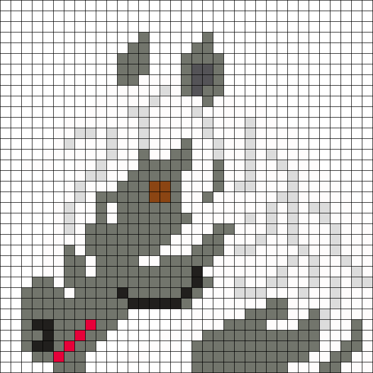 Grey Horse With White Mane Drawing