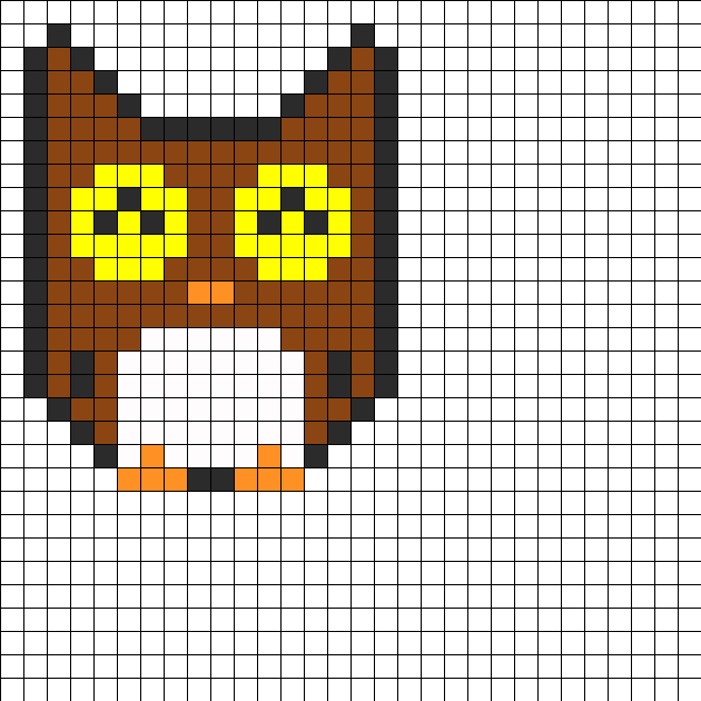 Owly Perler Bead Pattern / Bead Sprite