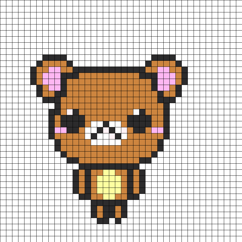 Cute bear perler bead pattern bead sprite this pattern is designed for