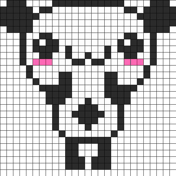 Happy Cute Panda Perler Bead Pattern / Bead Sprite