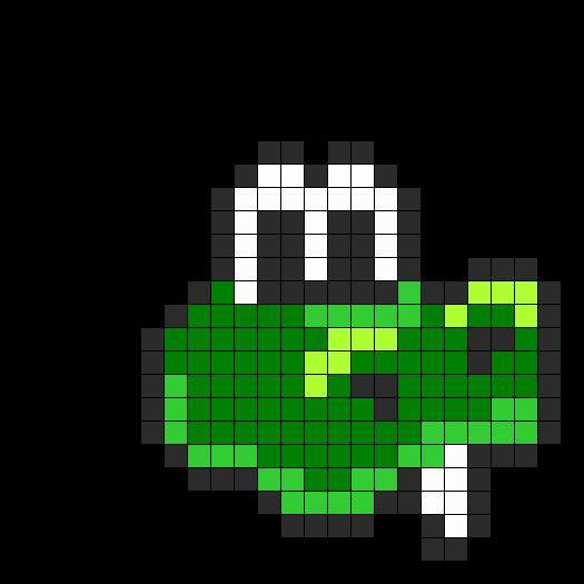 Croc Perler Bead Pattern / Bead Sprite