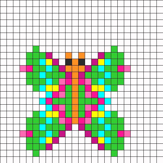 Butterfly Perler Perler Bead Pattern / Bead Sprite