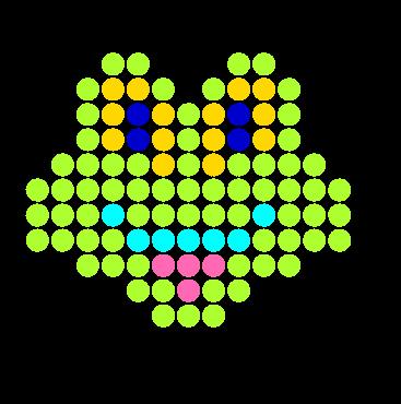 Cute Frog Perler Bead Pattern / Bead Sprite