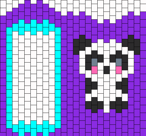 Panda Ipod Touch Case Bead Pattern
