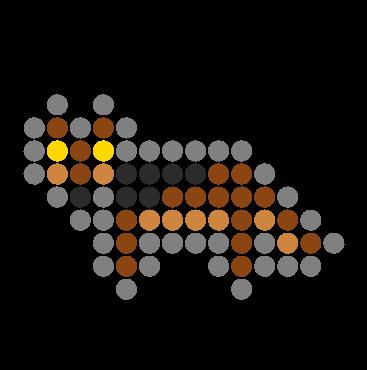 Wolf Perler Charm