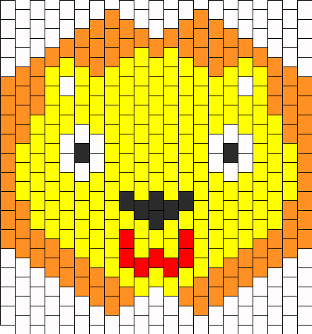 Lion Mask Bead Pattern