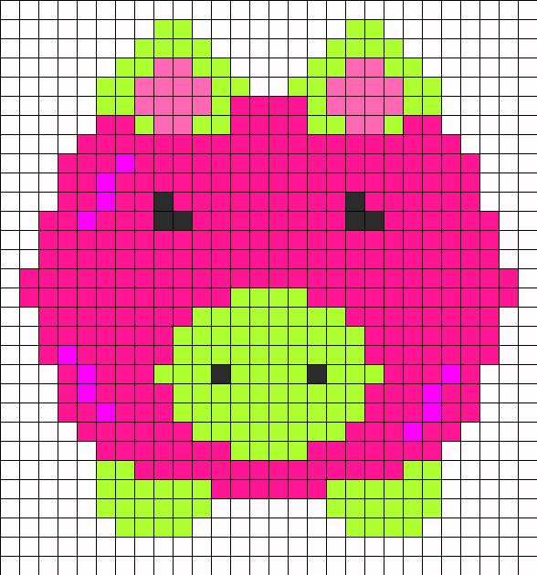 pig perler bead pattern bead sprites animals fuse bead