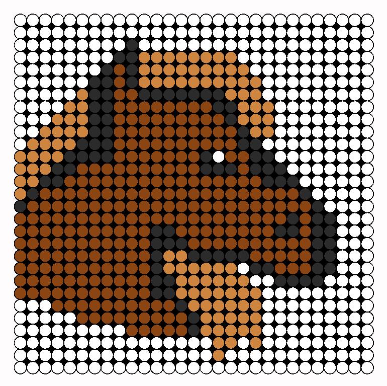 Horse perler perler bead pattern bead sprite