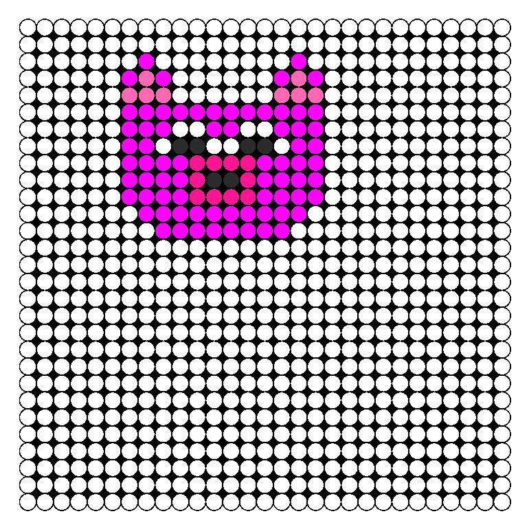 Pig Perler Bead Pattern / Bead Sprite
