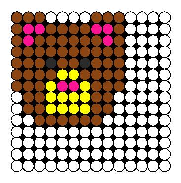 Bear Perler Bead Pattern / Bead Sprite