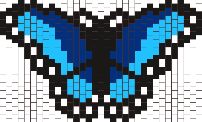 Blue Butterfly Mask Bead Pattern