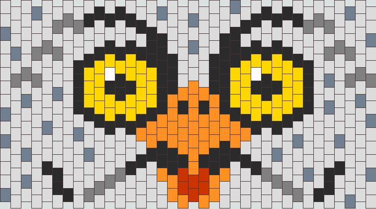 Owl Cuff Kandi Pattern