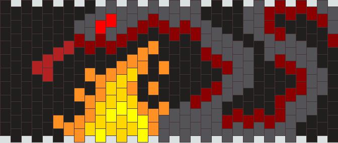 Fire Snake Kandi Pattern
