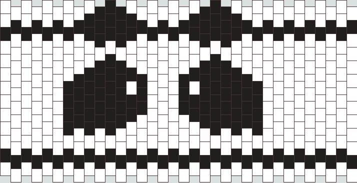 Panda Cuff  Kandi Pattern