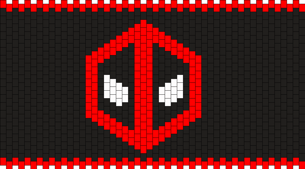 Deadpool Kandi Pattern